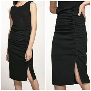 NWT MASSIMO DUTTI Ruched Pencil Skirt